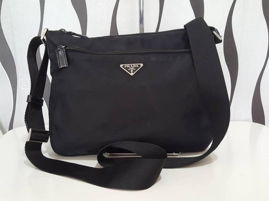 28e62f5eae2f5d ... canada prada rare authentic prada nylon black sling crossbody bag prada  bag prada sport 7a0ad 60200