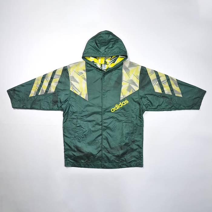 Adidas Rare Vintage 80s 90s Adidas Winter Coat Parka Hoodie Jacket