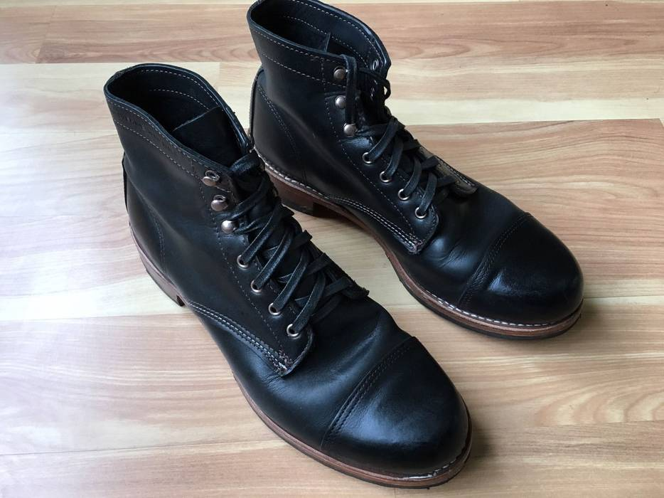 Wolverine Wolverine  Adrian  1000 Mile Cap Toe Boots Black Size 11 ... 4b990180574