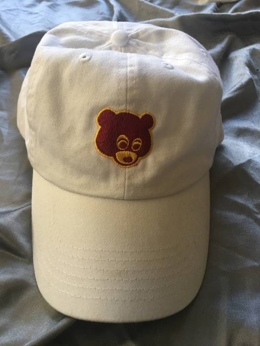 Unbranded Kanye College Dropout Bear white dad hat Size one size ... c14567fec1b