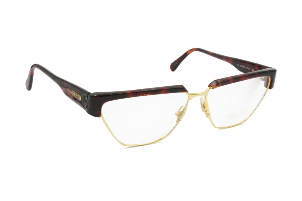 02761f0a740182 Missoni Eyeglasses frame MISSONI M 162 polygonal golden frame surrounded  with brown tortoise cello shell