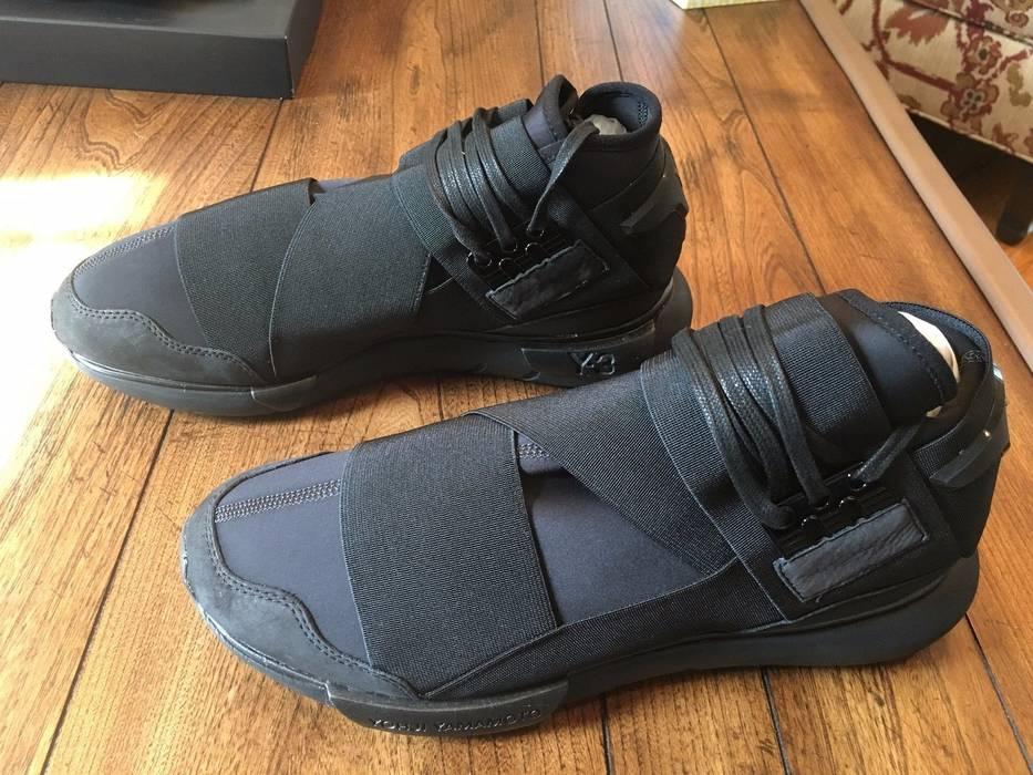 6a273fc11 Y-3 Adidas Y3 Qasa High Triple Black Yohji Yamamoto Yeezy Kayne Size ...