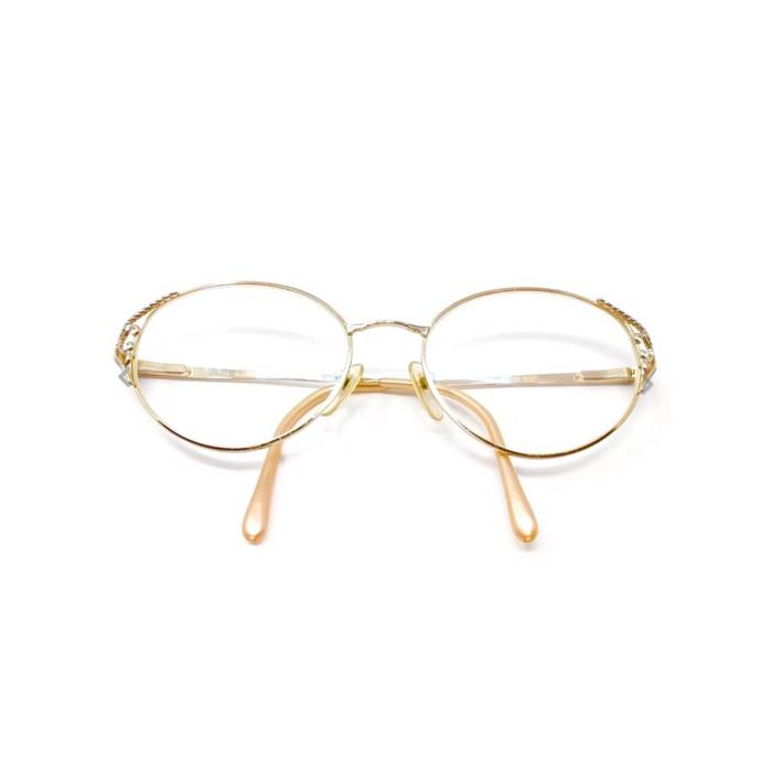 93a116f993 Givenchy. RARE GIVENCHY Gold 90s Vintage Frames Round Oval Eyeglasses ...