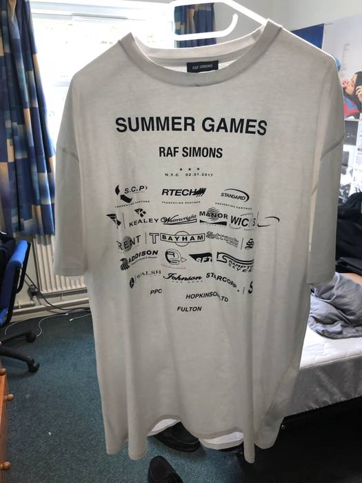 7f9f4b2cb00c Raf Simons Raf Simons Summer Games cotton jersey t-shirt Size l ...