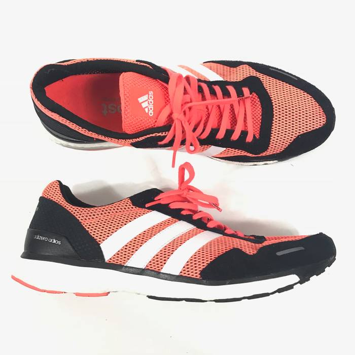 4416b87ff3a Adidas Adidas Mens Adizero Adios Boost 3 Running Shoes Red Black White Sz  12 AF6554 Size