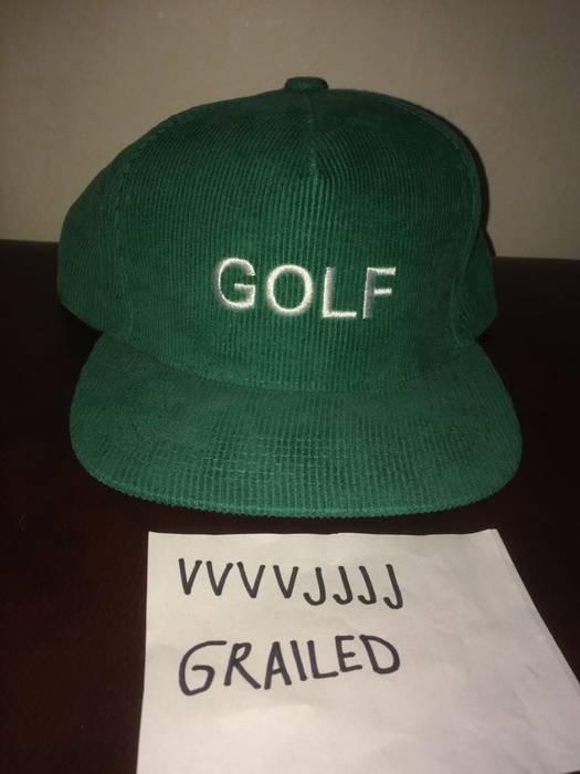 b8b37c94fda Golf Wang. Golf Wang GOLF logo Corduroy snapback green white. Size  ONE SIZE