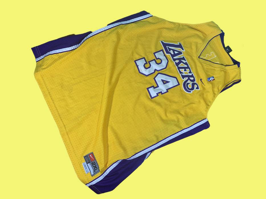 Nike Nike Team NBA Los Angeles Lakers Shaquille O Neal  34 Jersey Size 2XL 948b8927fb22