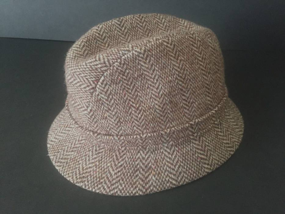 Kangol KANGOL CAMEL BROWN WOOL TWEED MENS FEDORA HAT Size one size ... 92d6a4d07bc