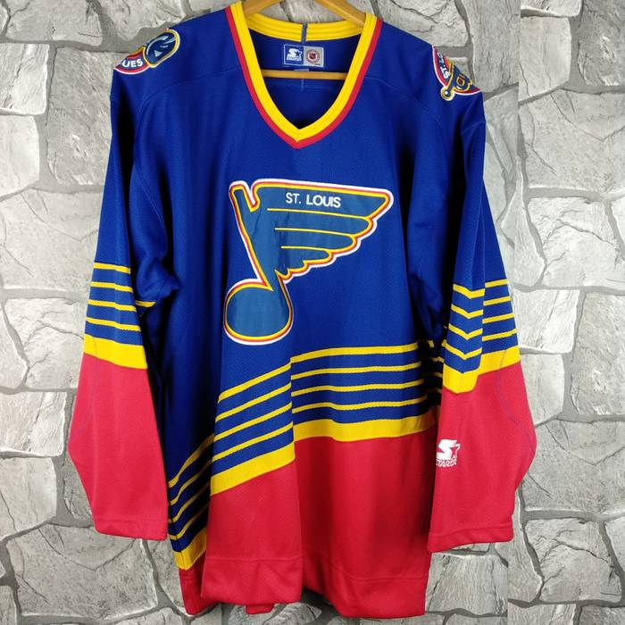 Starter Vintage 90s Stater St Louis Blues Hockey Ice Multicolor Jersey Size  XL Size US XL 932d1b83741