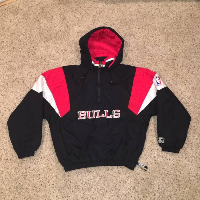 Starter Vintage Chicago Bulls Starter Pullover Jacket Size m - Light ... 33a448e8e