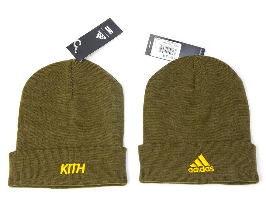 Adidas Adidas X KITH Soccer Rays Olive Beanie Hat K Wollie Size ONE SIZE e05f71b8d66