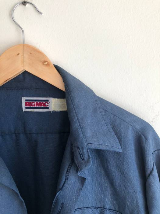 c2dec05cf8 Vintage Big Mac Common Indigo Blue Collar Workin Man Work Shirt (Final  Price Drop)