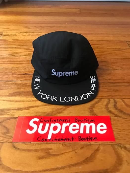 da4be892db5 Supreme Supreme Visor Print Camp Cap Black Size one size - Hats for ...