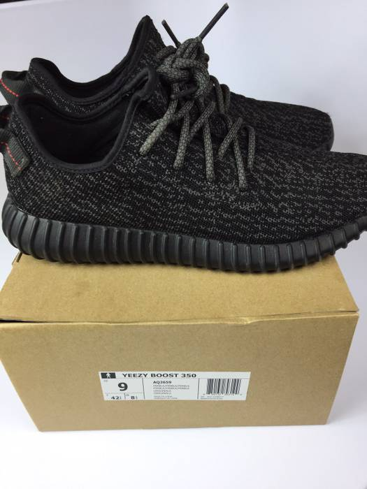 bbe2800a9fb Adidas Kanye West Yeezy 350 Boost Pirate Black (2015 Release) Size US 9
