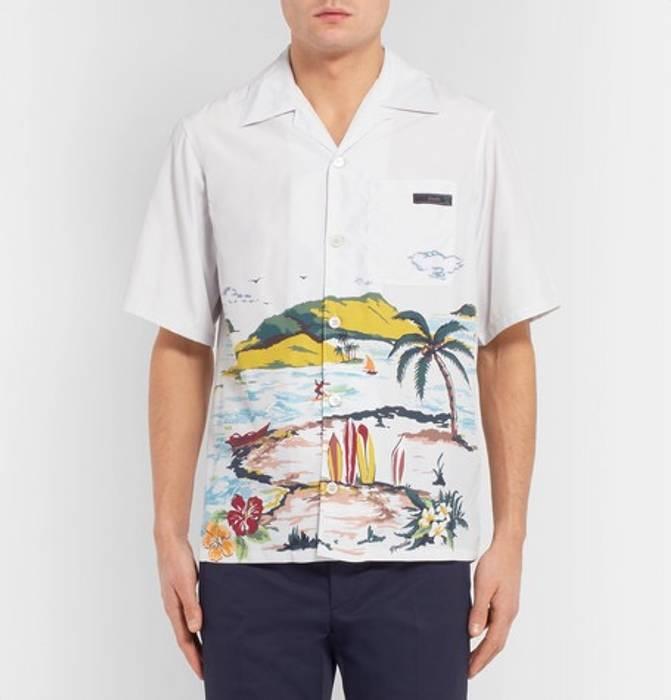 4f5381e6869d Prada Prada Beach Print Shirt Size l - Shirts (Button Ups) for Sale ...