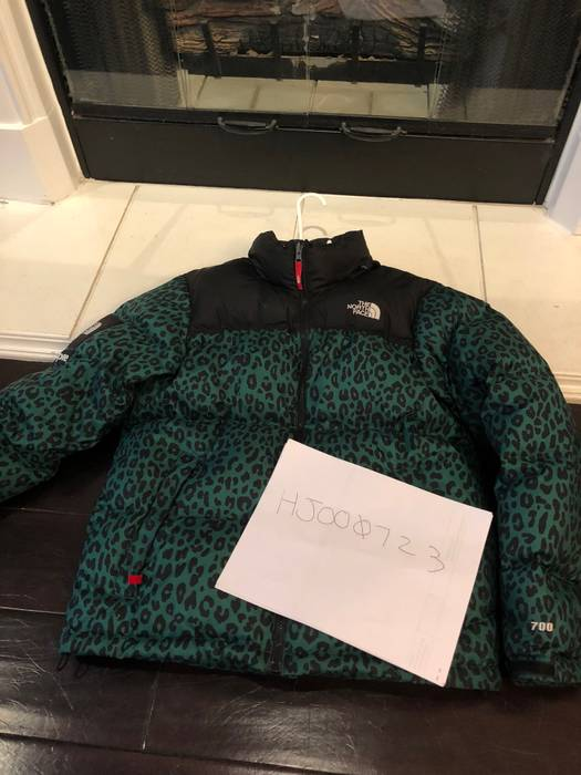 952013a07 purchase north face supreme nuptse down leopard jacket fa914 39c93