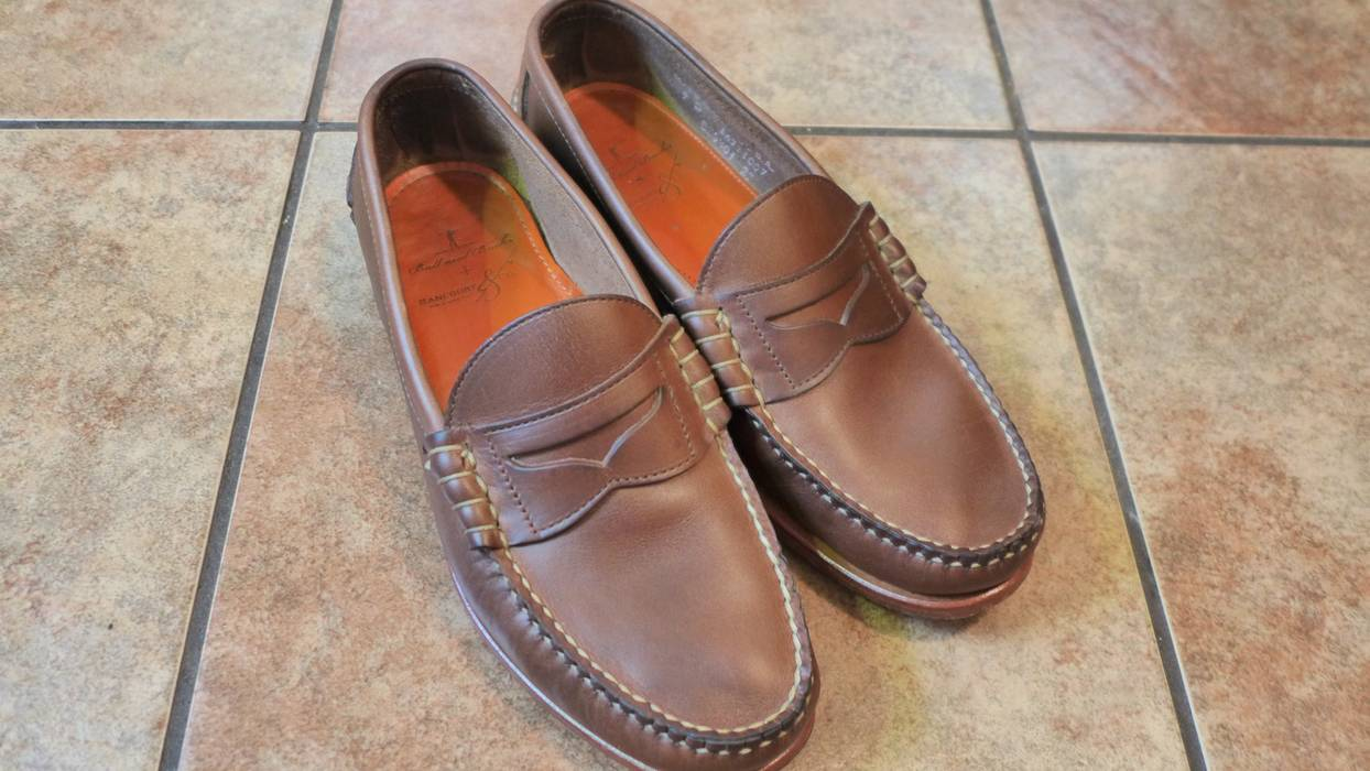 4ff563eeb14 Rancourt   Co. Natural CXL Chromexcel Beefroll Penny Loafer. Size  US 9 ...