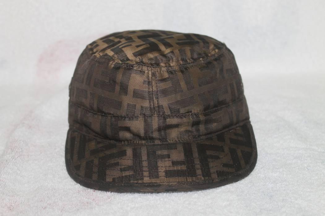 Fendi Vintage Vintage Fendi Monogram Cap Hat Zucca Made in ... 6dc507ae00f