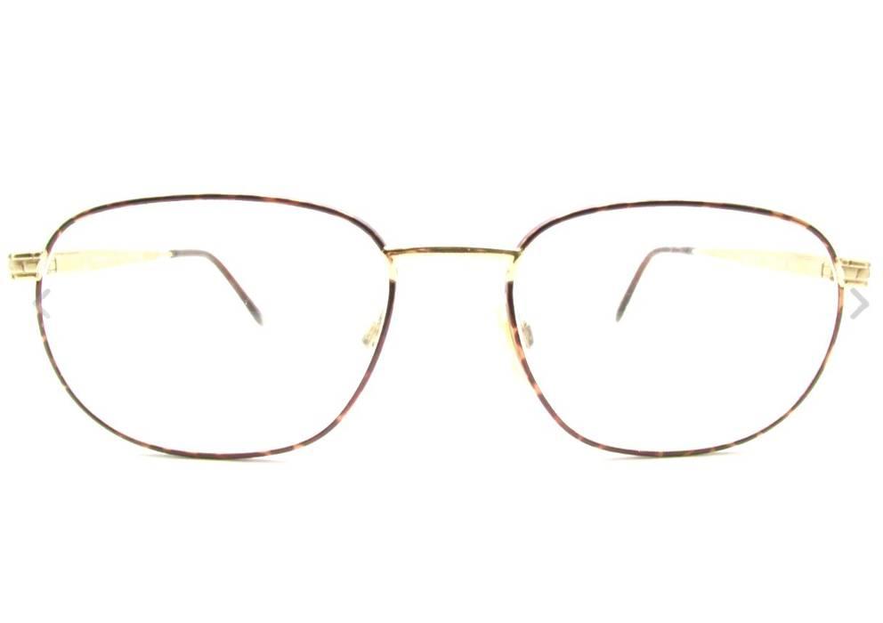 eca43124fc Yves Saint Laurent Vintage 90s Gold Tortoise Square Yves Saint Laurent  Frames YSL Eyeglasses Size ONE