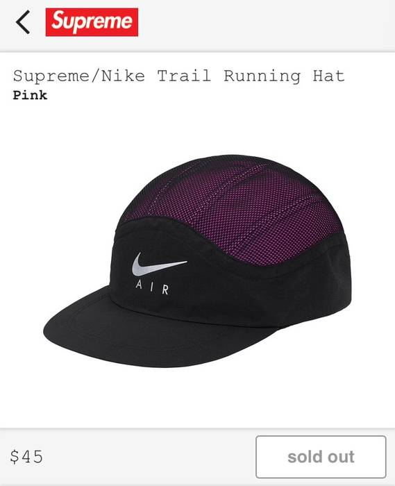 Supreme NEW Supreme X Nike Trail Running Hat Pink Size one size ... f1a80740800