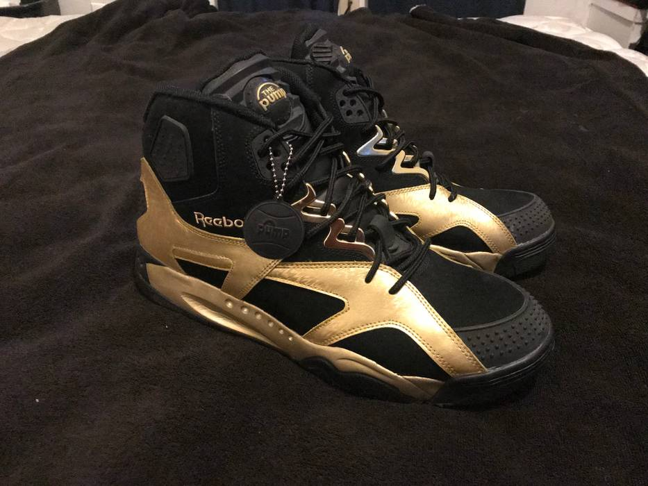 Reebok Reebok Pump OXT Black Metallic Gold Size 13 - Hi-Top Sneakers ... 1575353c3