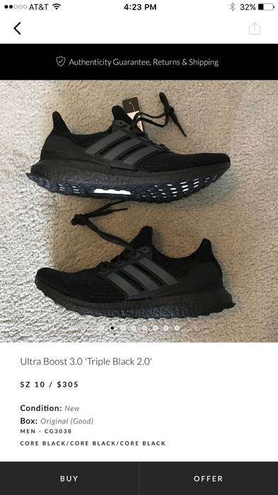 3e10528326e63 coupon code for adidas ultra boost 4.0 core black 1856f 74104  clearance adidas  ultra boost 3.0 triple black 2.0 size us 14332 ad0f1