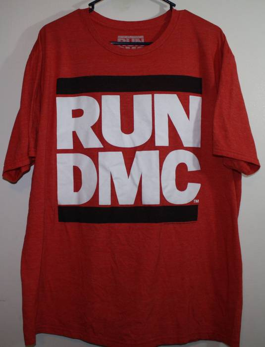 Band Tees Run Dmc Big Logo Old School Red T Shirt Hip Hop Rap B Boy