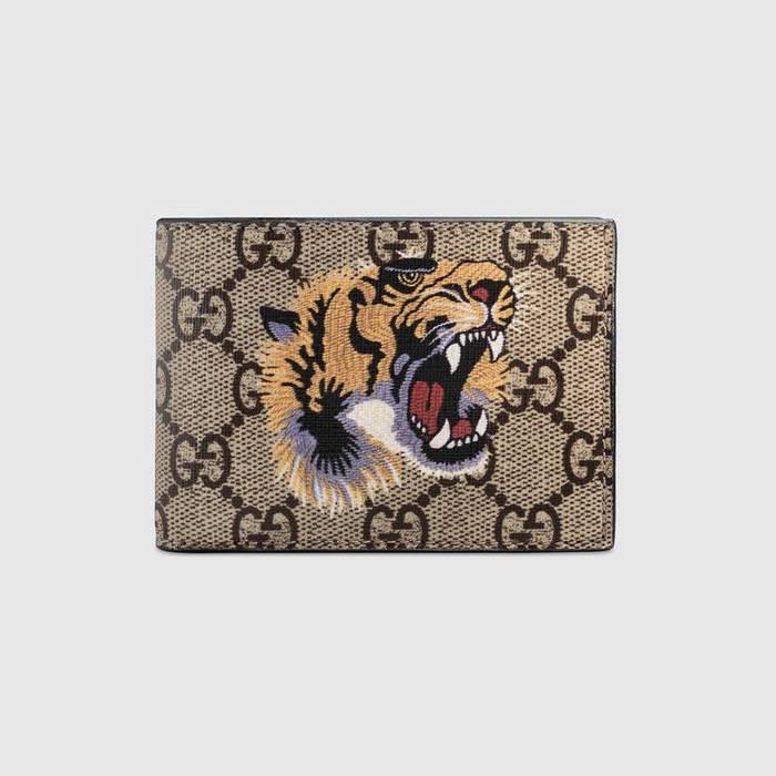 b0e934ce5b47 Gucci Gucci Gucci Tiger print GG Supreme wallet Size one size ...