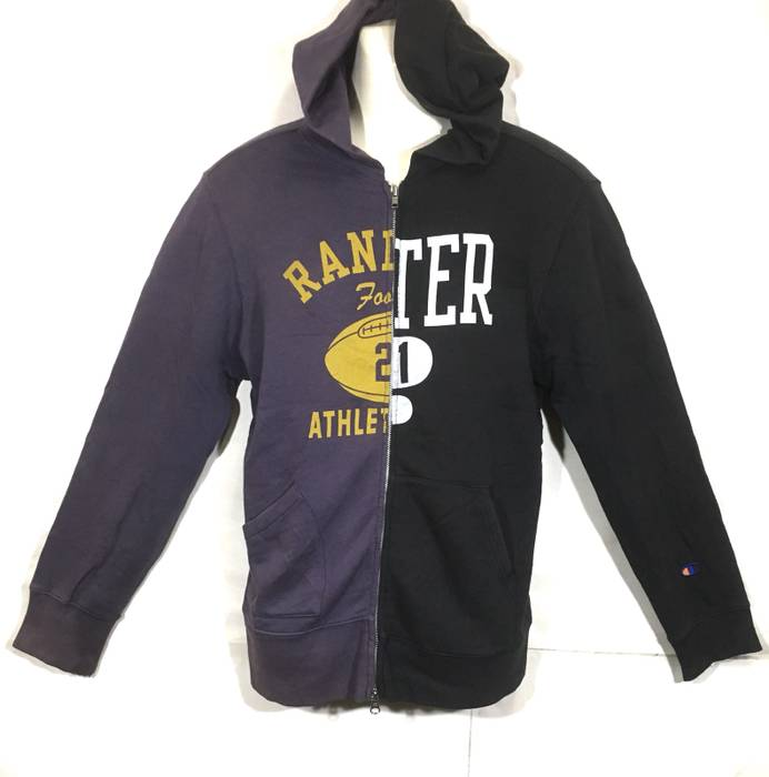 Champion Champion Products Patchwork Style Two Color Hoodie Sweater ... f6989c45d
