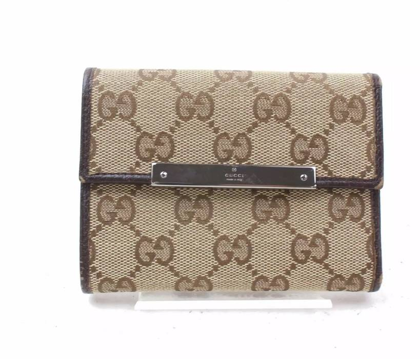 "351ab2c13ee2c3 Gucci Authentic Monogram ""GG"" Trifold Wallet Size one size - Wallets ..."