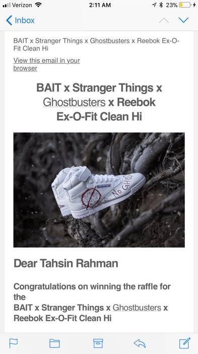 c317bf1bd37918 Reebok Bait X Stranger Things X Ghostbusters X Reebok Men Ex-O-Fit Clean