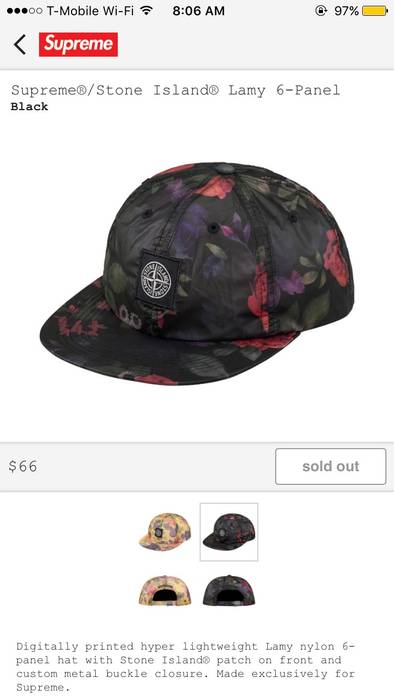 Supreme Supreme X Stone Island Colab Flower Hat Size one size - Hats ... 91c2bb19785