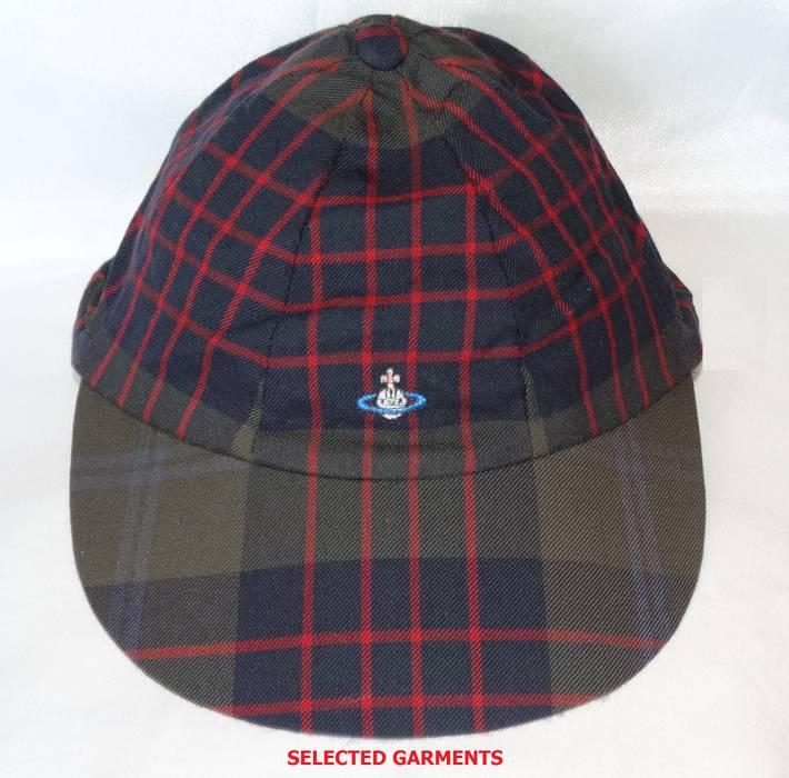 Vivienne Westwood Vivienne Westwood wool tartan flannel cap made in ... c36bb60e69b