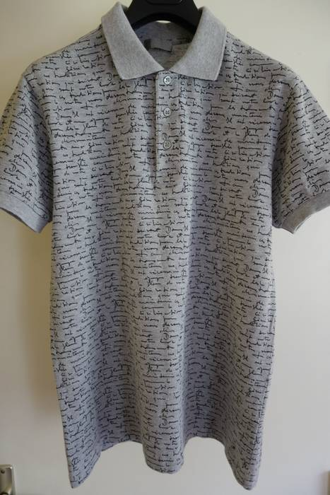 Dior DIOR HOMME Shirt Polo M Medium Grey