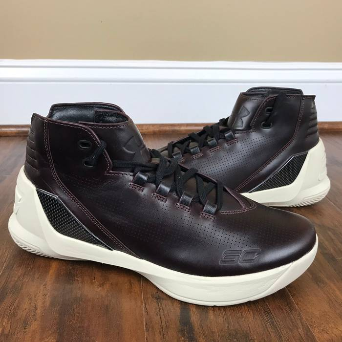 ff74365aa08d Under Armour Under Armour Curry Lux  Oxblood Leather  Size 8.5 - Hi ...