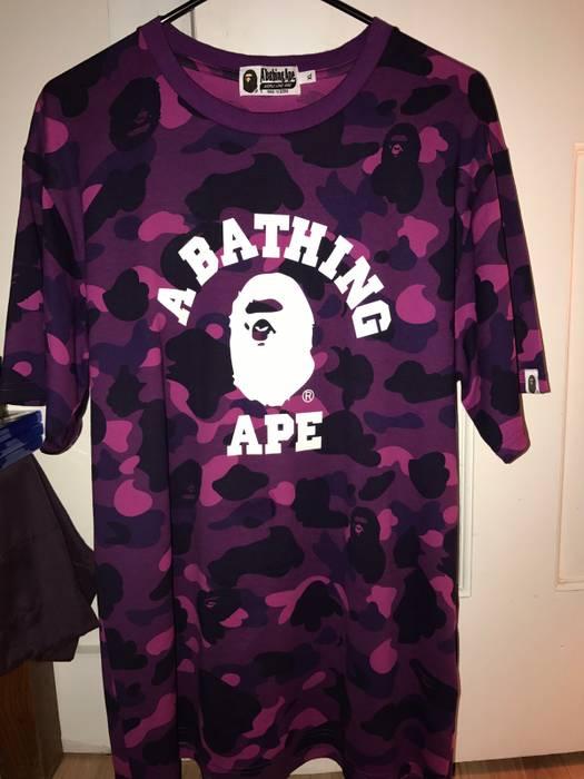 1618104d Bape Bape Purple Camo Tee 17 Size xl - Short Sleeve T-Shirts for ...