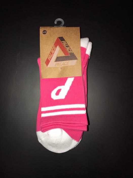 Palace Pink P Socks New Size One