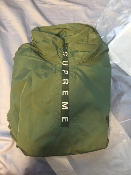 e9e1f5bbce54 Supreme Zip Logo Pullover Windbreaker Olive Size m - Light Jackets ...