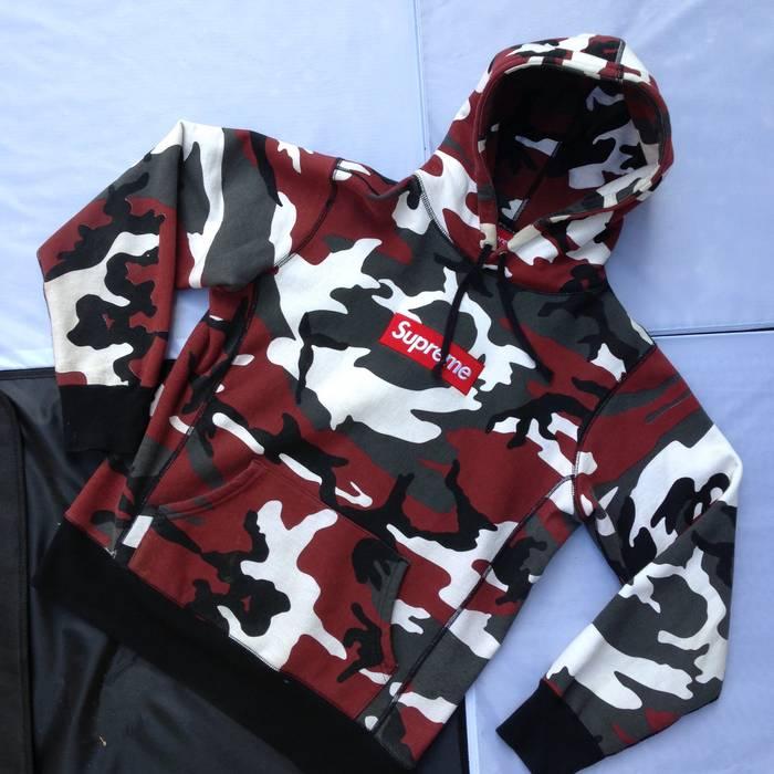 774918e3727f Supreme Supreme Red Camo Box Logo Hoodie Size m - for Sale - Grailed