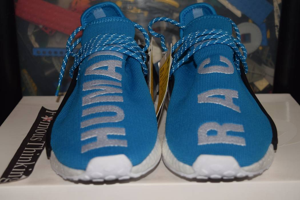 Adidas SAMPLE Adidas Pharrell NMD Human Race Blue Size 9 - Low-Top ... 827884146