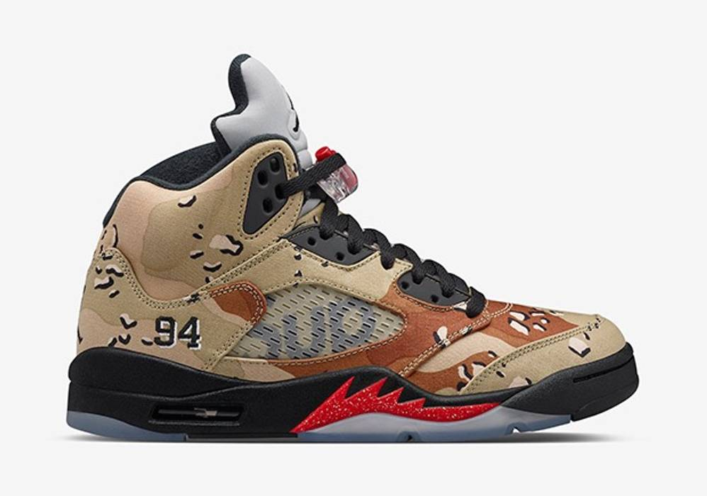 3d85b7eccc49e9 Supreme Supreme Air Jordan V 5 Camo Size 10.5 - Hi-Top Sneakers for ...