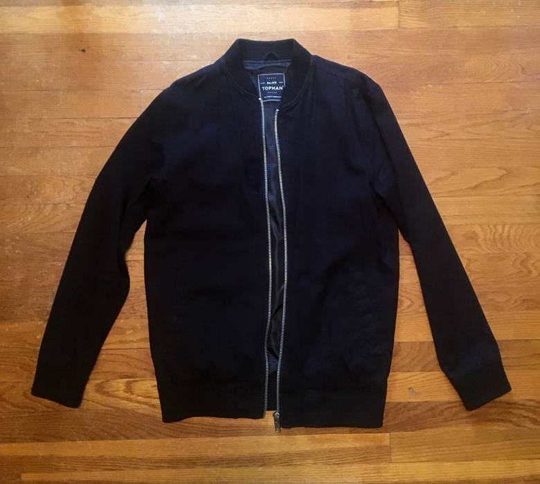 f8d190ba44c9 Topman Black Cotton Bomber Jacket Size s - Bombers for Sale - Grailed