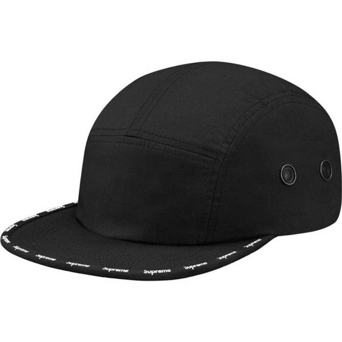 bdbcf377e9b Supreme Visor Logo Tape Camp Cap Size one size - Hats for Sale - Grailed