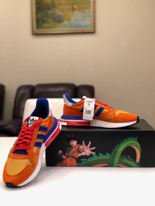 Adidas Adidas X Dragon Ball Z ZX 500 RM Son Goku D97046 Size 11.5 ... a2be21a6e