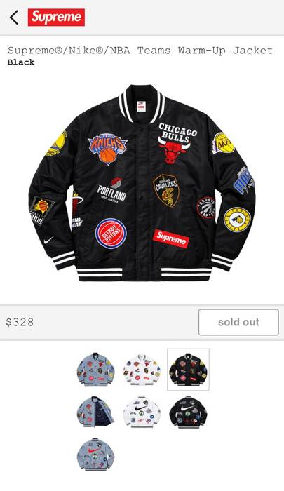 Supreme Supreme x Nike x NBA Black Warm Up Jacket SIZE SMALL Size US S   c9e234201
