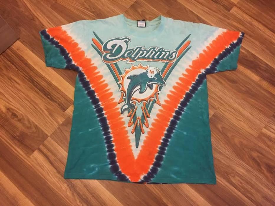 3f8f8d7ea Nfl. Vintage Miami Dolphins Tie Dye T-Shirt NFL Team Apparel. Size  US L ...
