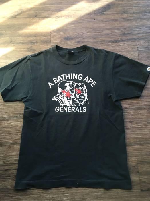 Bape bape generals black t shirt a bathing ape Size l - Short Sleeve ... c22b8ad9bd12