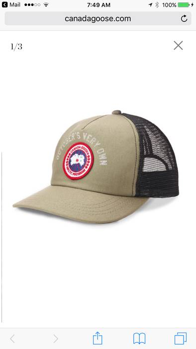 Canada Goose OVO Canada Goose Cap - Khaki Size one size - Hats for ... d96411ab32ef