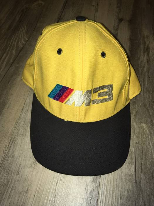 Vintage Vintage 90s BMW M3 SnapBack Hat Cap Made In USA Car Adjustable  Yellow Size ONE 888daac4bb6