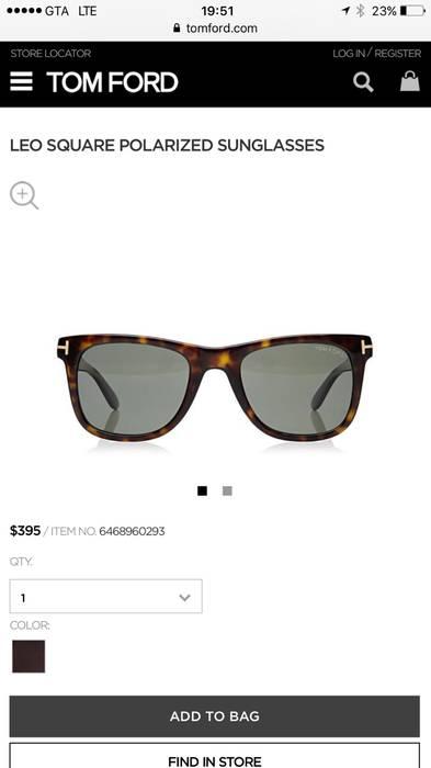 7ff7536cd60 Tom Ford LEO SQUARE POLARIZED SUNGLASSES Size one size - Sunglasses ...